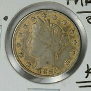 1885 Liberty V Nickel Love Token On Key Date Rarity One Of A Kind Xf