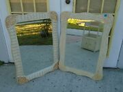 1 Of 2 Pier Wicker Mirror Cottage Jamaica Imports One Rattan Coastal Two Pair