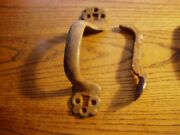 Antique Slanted Cast Iron Door Handle 7 3/4 Long ,thumb Latch Left Or Right