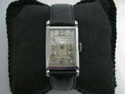 A958 Vintage 1930and039s Longines Wrist Watch In Platinum Diamonds Mechanical