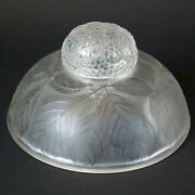 Rene Lalique Clear And Frosted Glass And039cernayand039 Inkwell