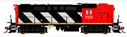 Rapido 1/87 Ho Cn Canadian National Mlw Rs-18 Rd. 3842 Dc / Dcc Sound 32525 F/s