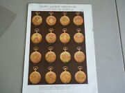Vintage Crown Watch Company Multi Colored Gold Pocket Watches Ad