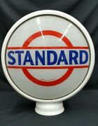 Antique 15 Standard Oil Glass Signs Steel Reproduction Frame Gas Station Globe