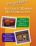 Double Dvd Set Antique Radio Restoration Vols 3 And 4 - Wood And Plastic Cabinets