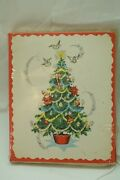 Vintage Christmas Cards New Old Stock American Greeting Set 12 Mip Unused 1950 Y