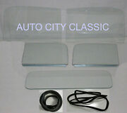 Glass 1947 1948 1949 1950 Chevy Gmc Pickup 2pc Windshield Asmb Door Back Cl Seal