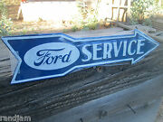 Ford Service Department Arrow Display Embossed Raised Metal Auto Shop Shelby