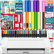 Silhouette White Cameo 4 W/ 26 Oracal Glossy Sheets Guides 24 Sketch Pens