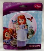 Sofia The First Princess In Gown And Tiara Castle Behind Her 3 Night Light-new