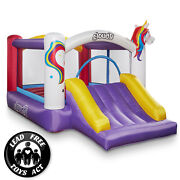 Cloud 9 Unicorn Bounce House With Slide And Blower Inflatable Bouncer With Bag