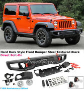 Fits 07-18 Jeep Wrangler Full Metal Rubicon Front Bumper 10th Anniversary Style