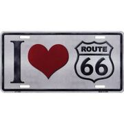 I Love Route 66 License Plate Usa Made