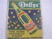 1930's Duffy's Root Beer And Dry Ginger Ale Duffy Bros Denver Colorado Matchcover
