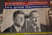 Kennedy And Johnson Two Great Democrats 1960 27x42 Campaigne Poster