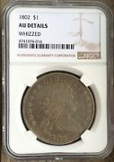 1802 Bust Silver Dollar Ngc Au Details Free S/h