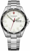 Watch Man Victorinox Field Watch V241850 Of Stainless Steel Silver Plated