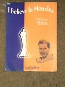 I Believe In Miracles By Sam M Lewis Vintage Music Sheet Rare Find