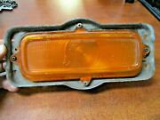 1960-1966 Chevy Truck Front Parking Light Turn Signal Amber Housing And Lens Oem