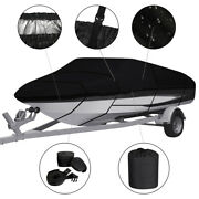 Waterproof Heavy Duty Boat Cover Fishing Bass V-hull Trailerable Runabout11-13ft