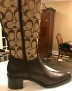 👜nib👜👢original 🕶coach 👢boots In Size 7 M Very Cool New Brown Womans