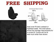 New 2 Front Synthetic Sheep Skin Sheepskin Car Truck Seat Cover- Black