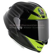 Agv Pista Gp-rr Essenza 46 Rossi Motorcycle Helmet Extra Visor And Shipping Dot