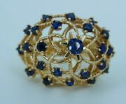 Womenand039s 14k Gold Sapphire Cluster/dinner Ring