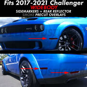 Challenger Widebody Smoke Side Marker Reflectors Overlays Precut Tint Front Rear