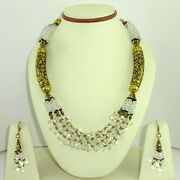 Necklace Earrings Natural Crystal Gemstone Antique Handmade Beaded Jewelry