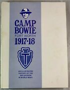 Signed 1st Ed In Jacket Camp Bowie Fort Worth Wwi 36th Texas Division History