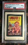 1974 Topps Wacky Packages Mud 11th Series Psa 9 Mint Non-sport Card