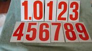 Metal Gas Station Number Signs Double Sided Lot Of 11 - 7 X 3 5/8th  Nos