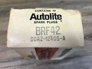 10 Mustang Galaxie Fairlane Nos Ford Autolite Brf 42 Spark Plugs Doaz-12405-a