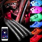 4 Andtimes 12 Led Rgb Strips App Control 7 Colors Car Interior Floor Atmosphere Light