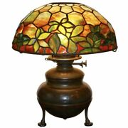 Studios Woodbine Stained Glass Table Lamp