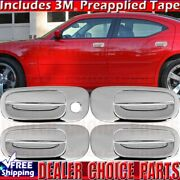 Door Handle Covers For 2006 2007 2008 2009 2010 Dodge Charger Chrome Overlays