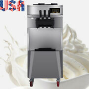 1850w 20l/h Stand Commercial 3 Flavors Ice Cream Machine Stainless Steel Usa Fda