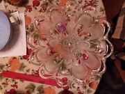 Unknown Clear And Frosted Glass Flower Petal Style Fruit Salad Bowl 12