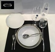 Rosenthal - Junto Pearl Grey/white Set 2 -service Dishes 24 Pieces - Dealer