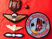 Vintage Badge Paratrooper Crest Aviation Wwi Pin Tria Juncta Uno Pip Pin