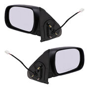 Fits Toyota Tacoma Truck 05-11 Set Side View Power Textured Mirrors W/ Housing