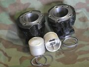 74 Panhead Complete Cylinder And Piston Kit. 1948 - 65