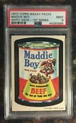 1973 Topps Wacky Packages Maddie Boy 1st Series White Back Psa 9 Mint Card