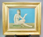 Framed Original Robert Grilley Oil Painting Nude French Girl Ingres 20 X 17