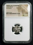 Greek Silver Drachm From Island Of Thasos In Thrace Ngc Certified 3007