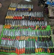 Hot Sellot Of Very Beautiful Custom Hand Made Damascus Steel Hunting 128 Knives.