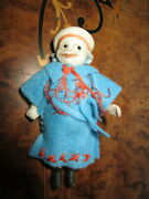 Funny Antique Bisque Doll - Clown -marked-germany