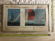 Large Print Americaand039s Cup 1962 With Crew Signatures - Old Estate Find