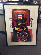 Karel Apell Lithograph Signed Limited Edtion Mid Century Modern 1968